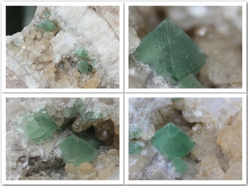 Fluorite associated with Calcite