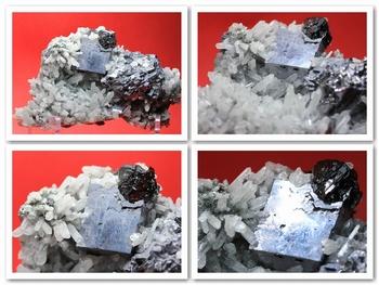 Galena crystal with black Sphalerite
