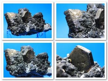 Hexagonal Pyrrhotite crystals