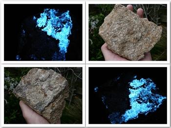 Fluorescent scheelite