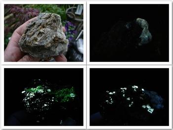 Fluorescent scheelite, powellite, opalite