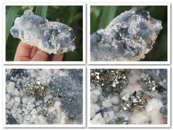 Arsenopyrite in combination with several other minerals.