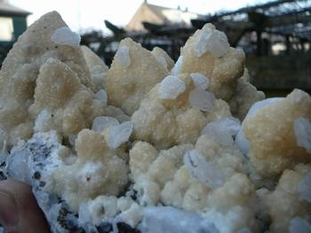 Quartz, dolomite and calcite