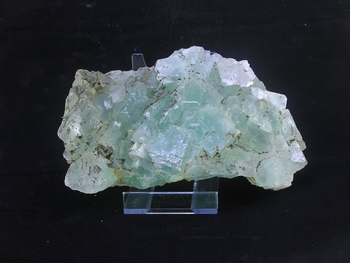 Green fluorite with some chalcopyrite