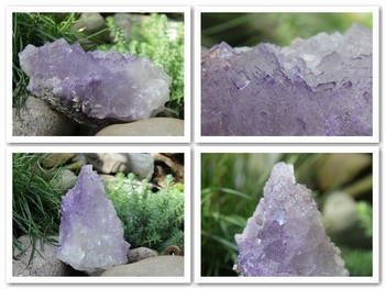 Fluorite - stepped and purple zoned
