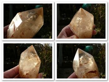Natural citrine crystal