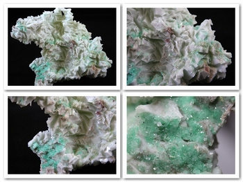 Mint-green Aragonite with nice microscopic green Fluorite