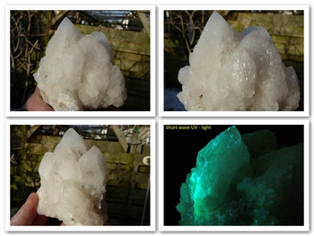 Fluorescent quartz