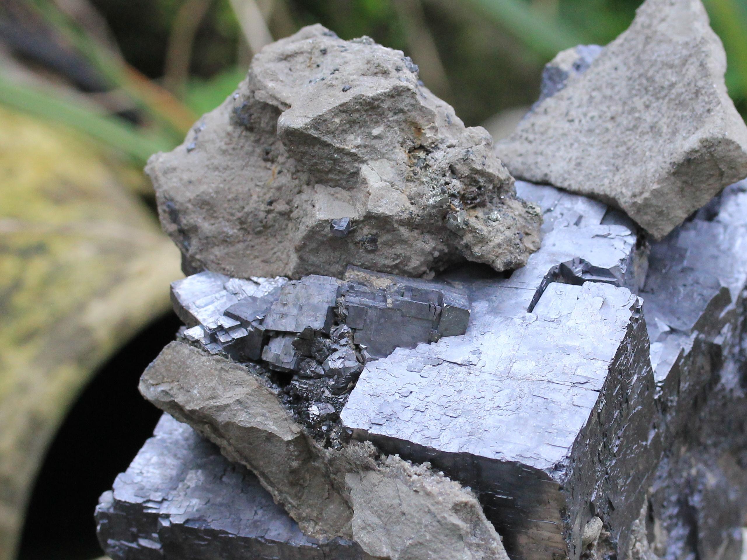 Galena crystals