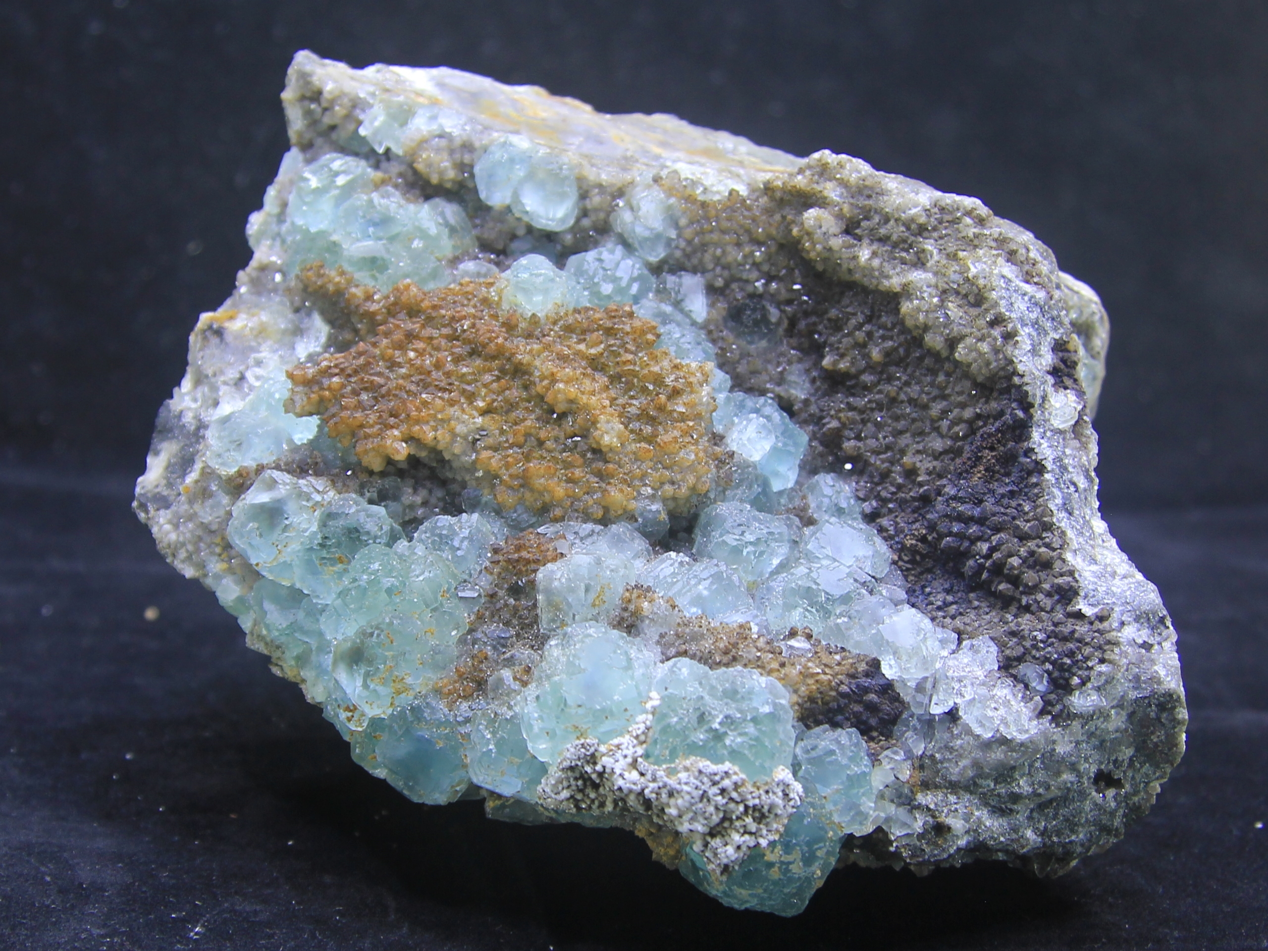 Pale sea-blue fluorite
