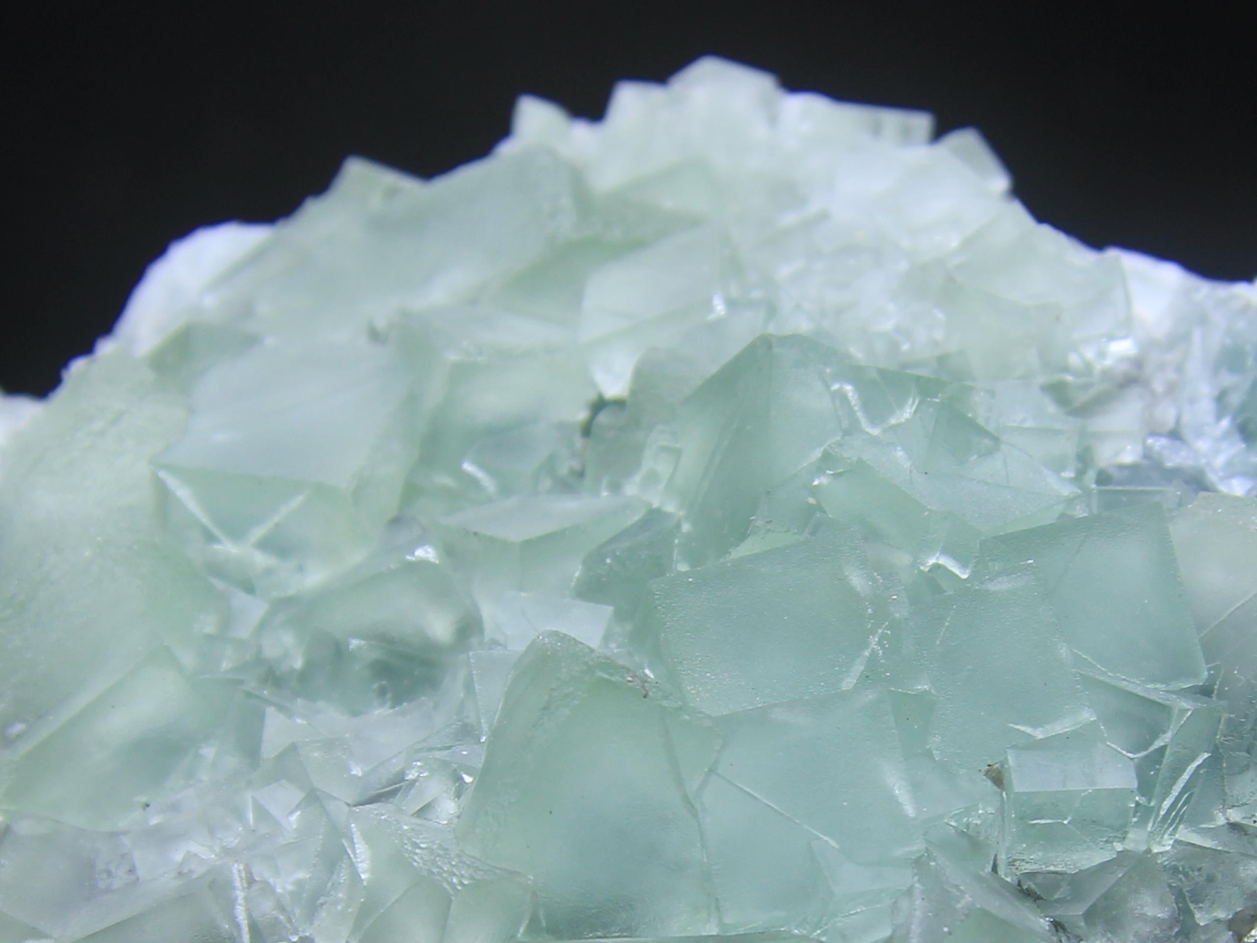 Two sided fluorite specimen; pale green fluorite