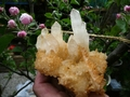 Quartz crystals, several generations